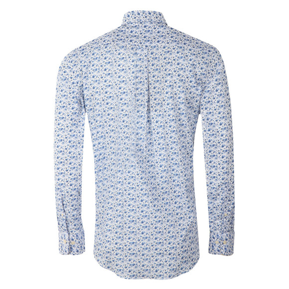 Gant Mens White Printed Flower LS Shirt main image