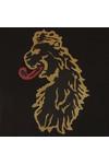 Luke Mens Black Cross Stitch Lion T-Shirt
