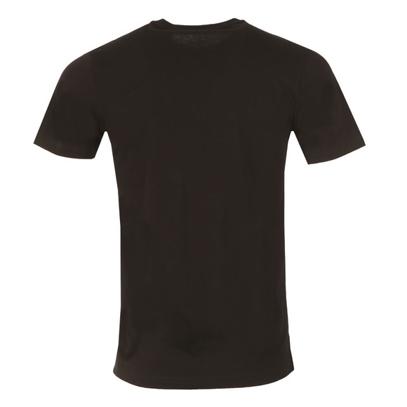 Luke Mens Black Cross Stitch Lion T-Shirt main image