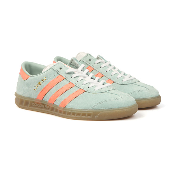 Adidas Originals Womens Green Hamburg Trainer main image