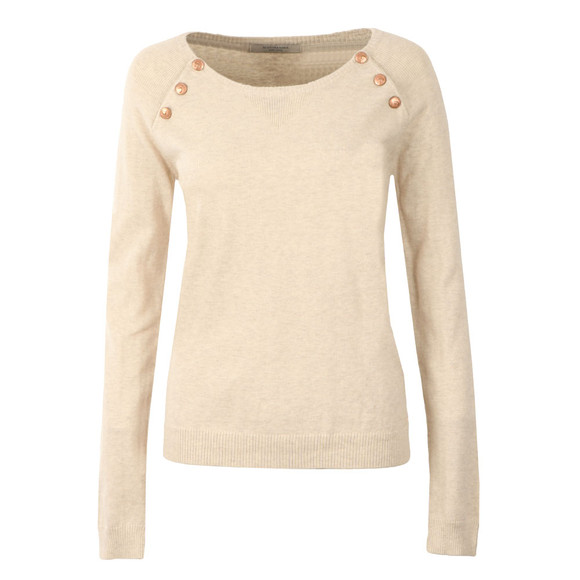 Maison Scotch Womens Off-white Jumper With Button Closure main image