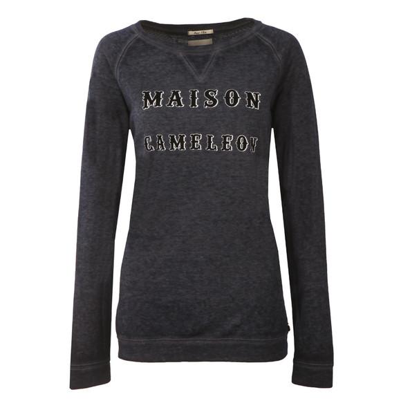 Maison Scotch Womens Blue Burnout Sweatshirt  main image