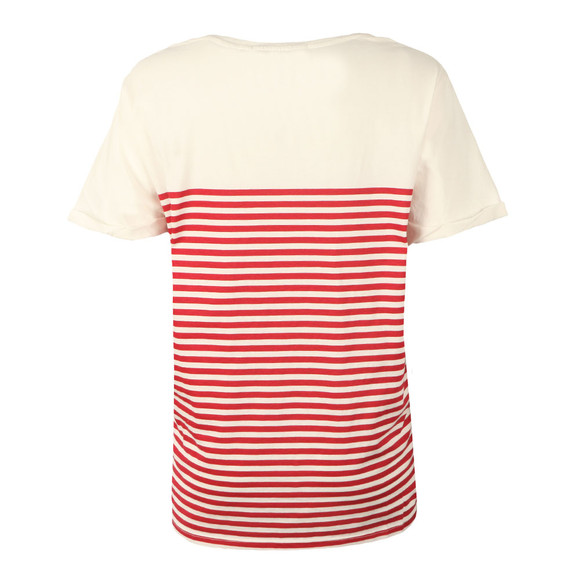 Maison Scotch Womens Red French Short Sleeve T Shirt main image