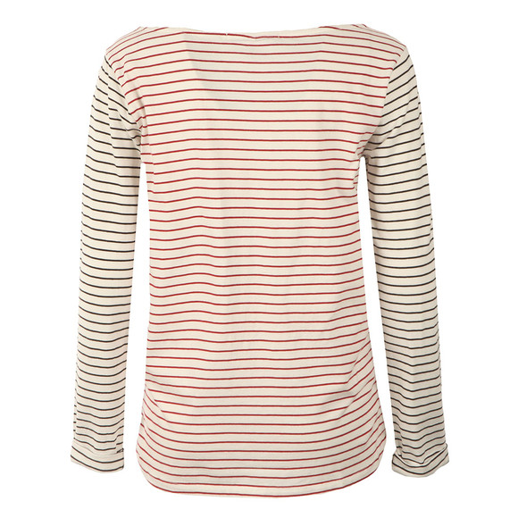 Maison Scotch Womens Beige Relaxed Fit Long Sleeve Tee main image