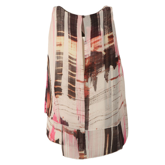 French Connection Womens Pink Cornell Sheer Sleeveless Top main image