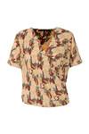 Maison Scotch Womens Multicoloured Short Wrapover Blouse