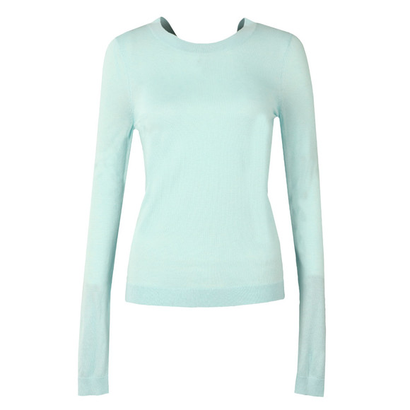 Michael Kors Womens Blue Cross Scoop Back Top main image