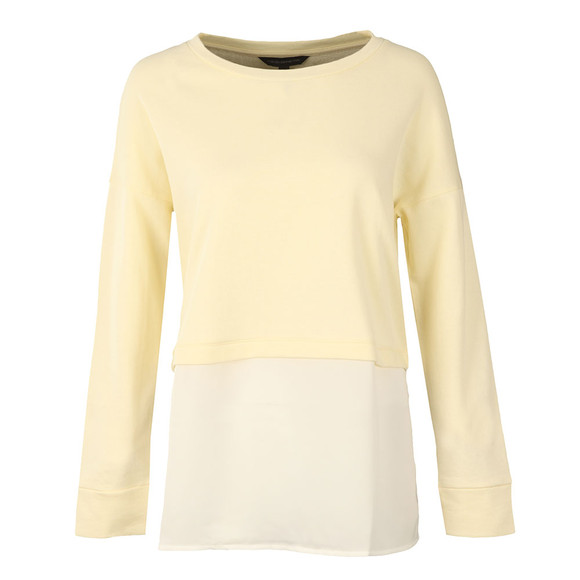 French Connection Womens Yellow Lerato Loose Jersey Top main image
