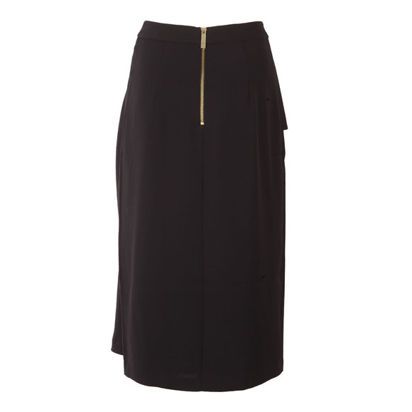 Ted Baker Womens Blue Daffnie Frill Front Asymmetric Skirt main image