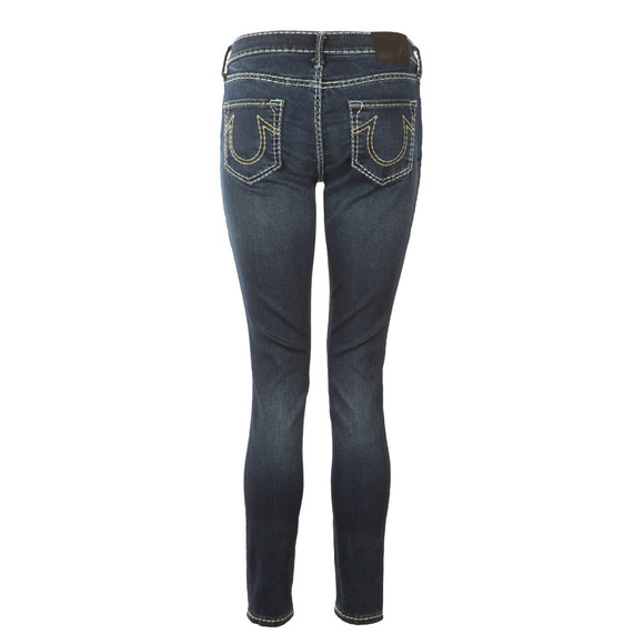 True Religion Womens Blue Halle Super Skinny Super T Jean main image