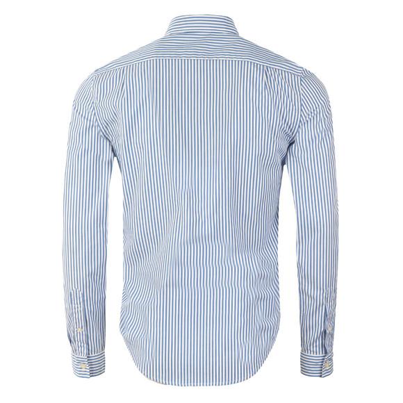 Lacoste Mens Blue CH3939 LS Stripe Shirt main image