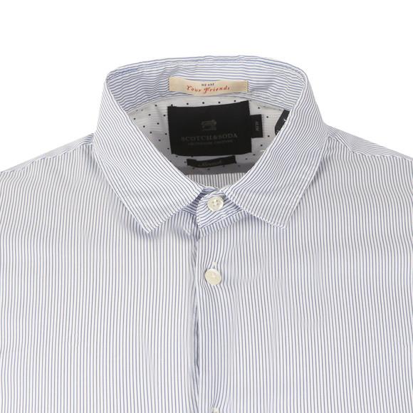 Scotch & Soda Mens Blue Classic Shortsleeve Shirt main image