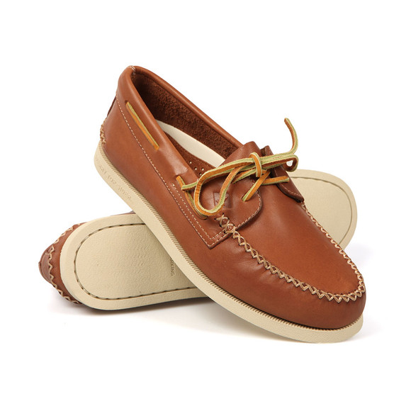Sperry Mens Brown Authentic Original Wedge Boat Shoe  main image