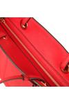 Michael Kors Womens Red Walsh Large Top Zip Tote