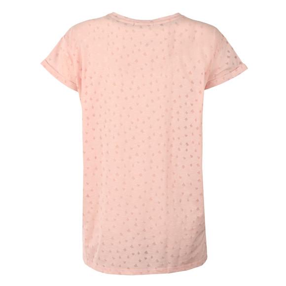 Maison Scotch Womens Pink Burn Out Tee main image