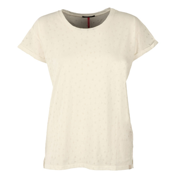Maison Scotch Womens White Burn Out Tee main image