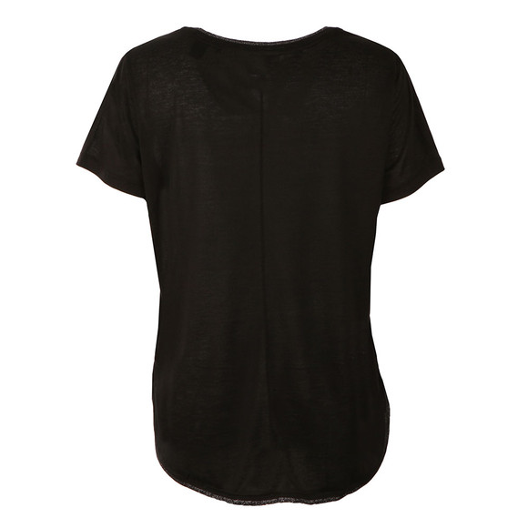 Maison Scotch Womens Black Short Sleeve Basic Tee main image