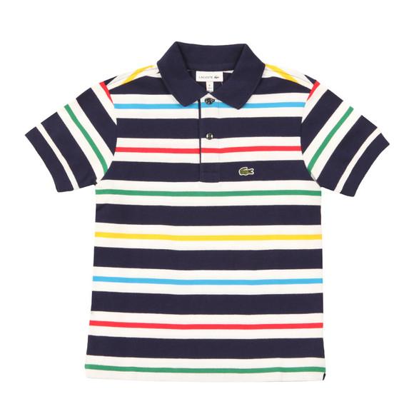 Lacoste Boys Blue Boys PJ2890 Stripe Polo main image