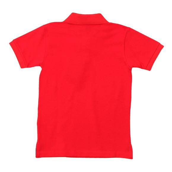 Paul & Shark Cadets Boys Red Plain Pique Polo Shirt main image