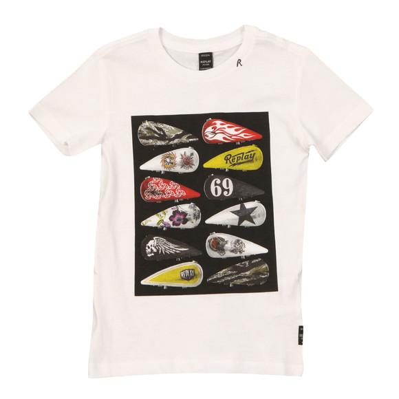 Replay Boys White Boys Gas Tank T Shirt main image