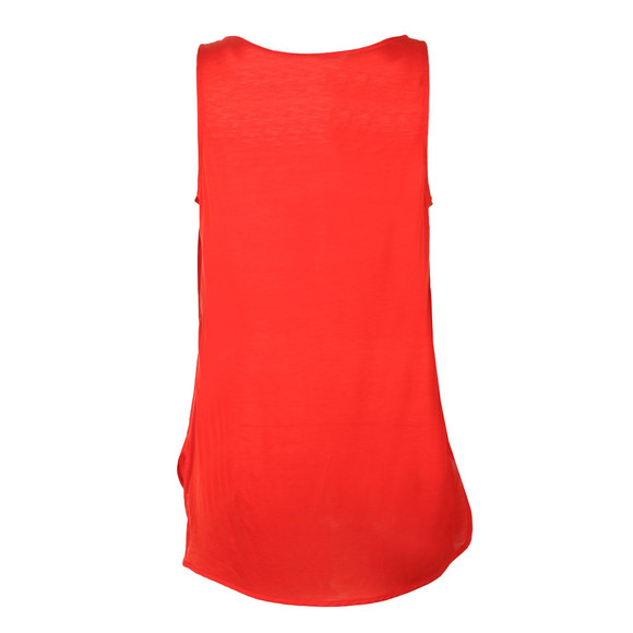 French Connection Womens Red Sania Plains Sleeveless Top main image