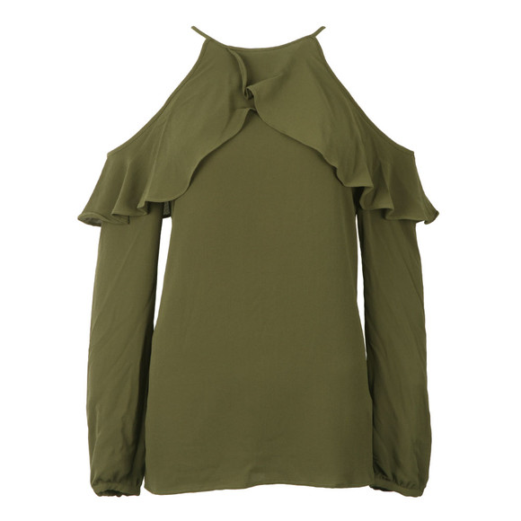 Michael Kors Womens Green Cold Shoulder Sleeveless Top main image