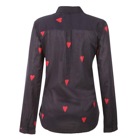 Maison Scotch Womens Blue Heart Print Shirt main image
