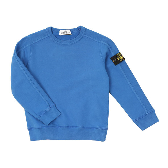 Stone Island Junior  Boys Blue Sleeve Badge Crew Neck Sweatshirt main image