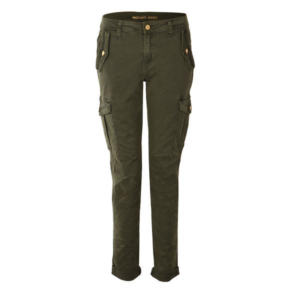 Michael Kors Womens Green Pigment Dye Cargo Jean main image