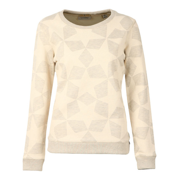 Maison Scotch Womens Grey Allover Star Print Sweat main image