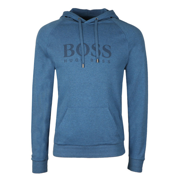 Boss Mens Blue Large Logo Overhead Hoody main image