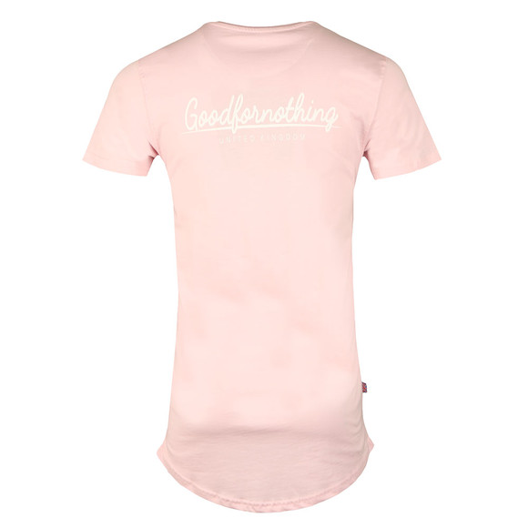Good For Nothing Mens Pink Essential T Shirt main image