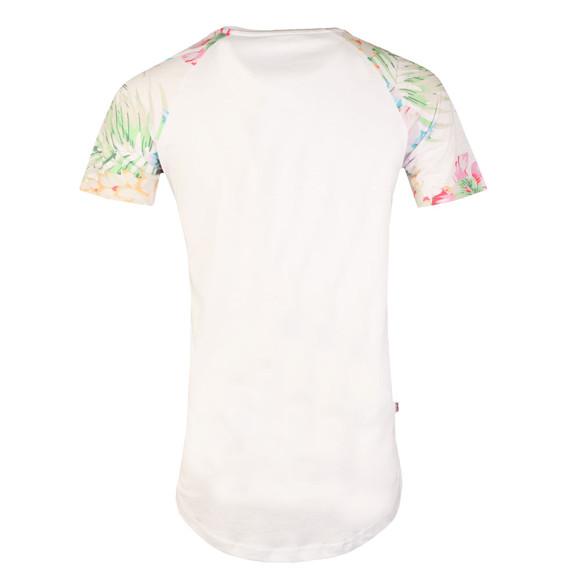 Good For Nothing Mens White Botanic Raglan T Shirt main image