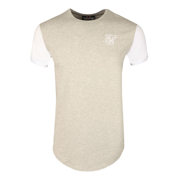 Sik Silk Mens Grey Contrast Gym Tee main image