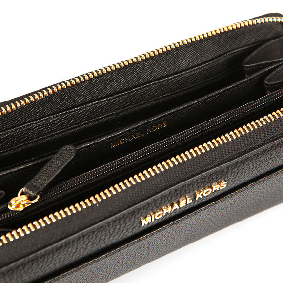 Michael Kors Womens Black Mercer Pocket Zip Around Continental Purse main image