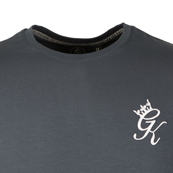 Gym king Mens Blue Core Long Line Tee main image
