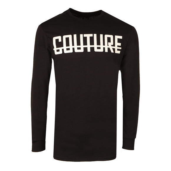 Fresh Couture Mens Black Long Sleeve Logo T Shirt main image