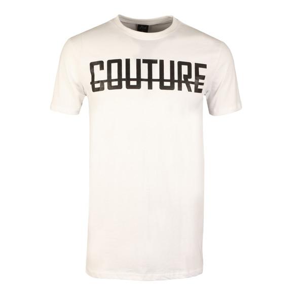 Fresh Couture Mens White Large Logo T Shirt main image