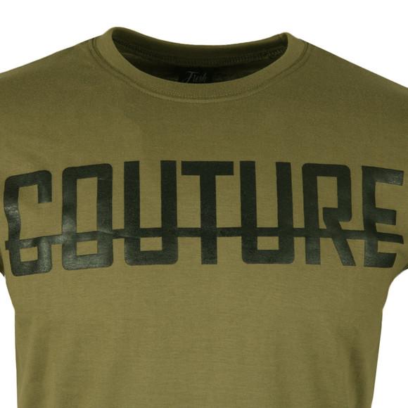 Fresh Couture Mens Green Large Logo T Shirt main image