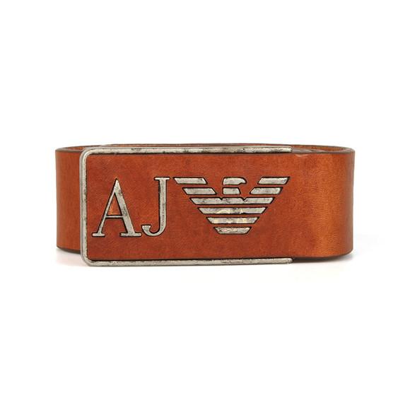Armani Jeans Mens Brown Armani Jeans U6115 Leather Belt main image