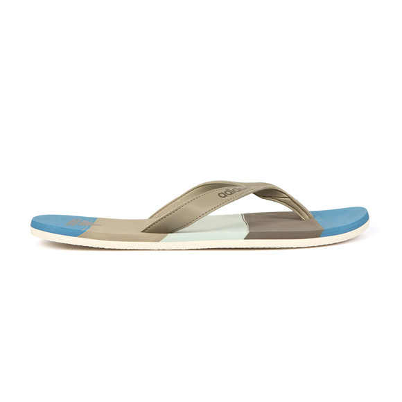 Adidas Originals Mens Grey Eezay Striped Flip Flops main image