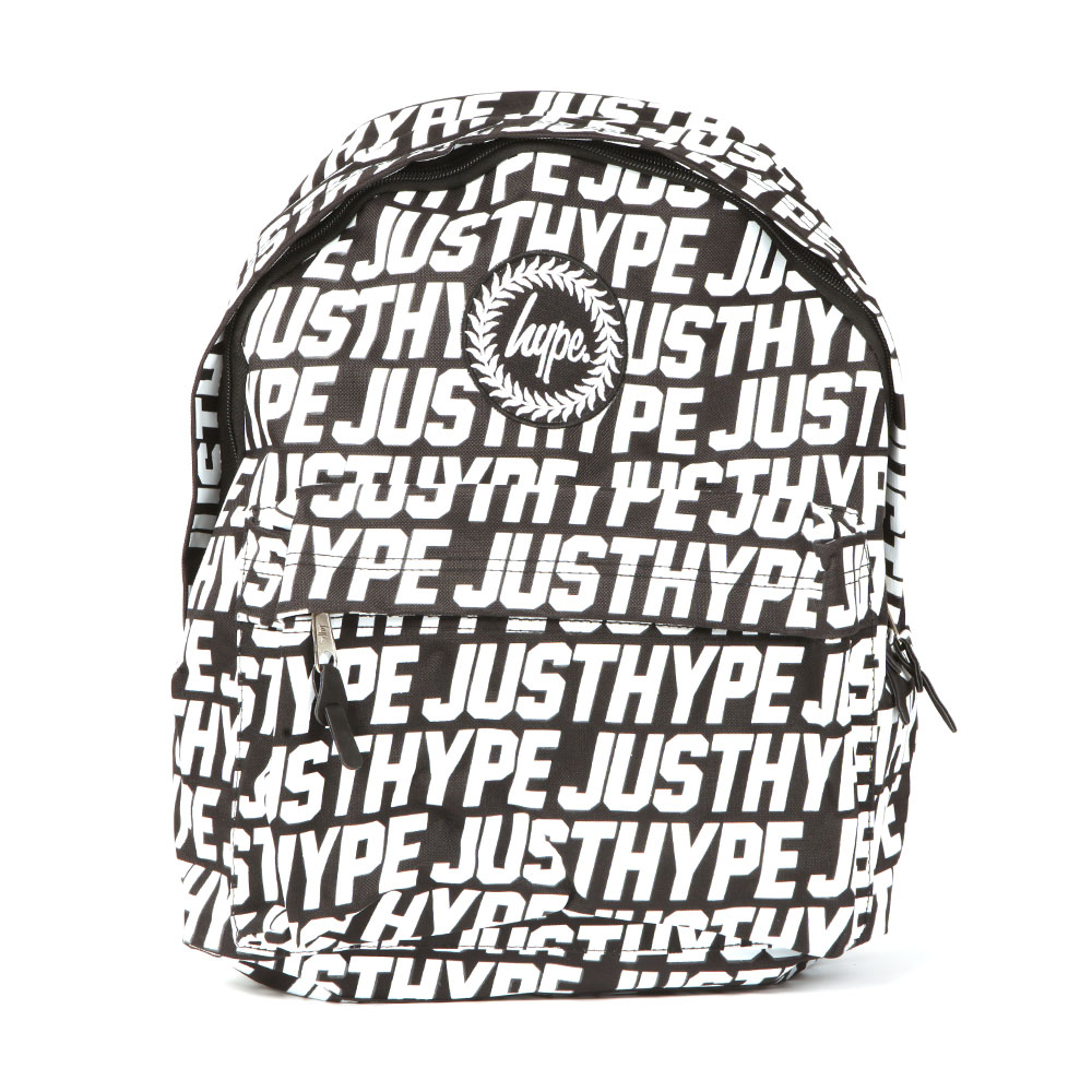 Sporting Just Hype Backpack, In Black And White.