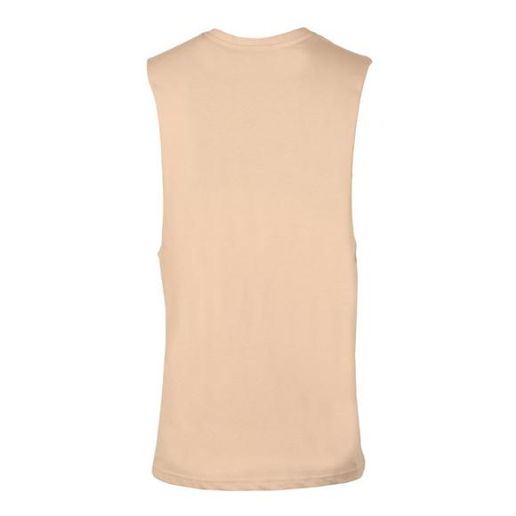 Gym king Mens Brown Stern Cut Off T Shirt main image