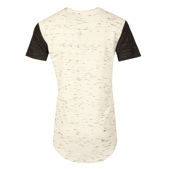 Sik Silk Mens White Inject Waffle Contrast Curved Hem T Shirt main image
