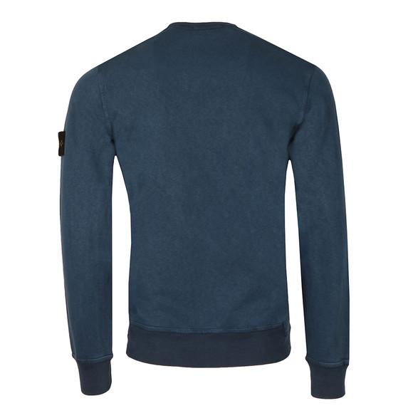 Stone Island Mens Blue Washed Crew Neck Sweatshirt main image