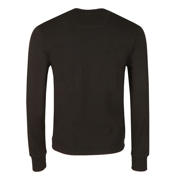 CP Company Mens Black Printed Logo Crew Sweatshirt main image
