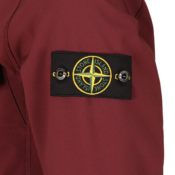 Stone Island Mens Red Soft Shell R Hooded Jacket main image
