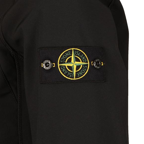 Stone Island Mens Black Soft Shell R Hooded Jacket main image