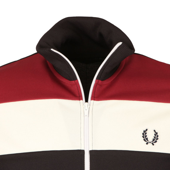 Fred Perry Sportswear Mens Blue Colour Block Track Jacket main image