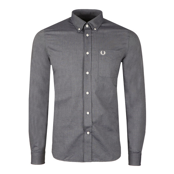 Fred Perry Mens Blue L/S Oxford Shirt main image